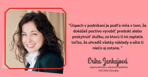 Erika Jankajová: Nebáť sa predať sa